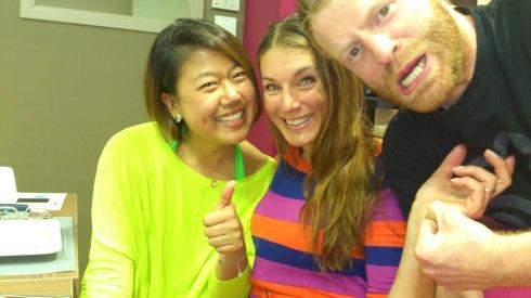 """""""Happy Mary"""" from China, jag och fysioterapisten Craig som hjälpt mig massor"""