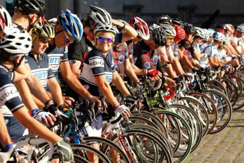 Starten i Bryssel 5 september 2013 #mHealth Great Tour #Team Blood Glucose